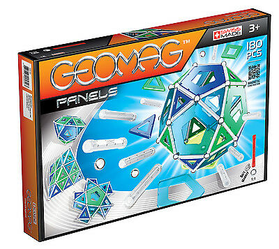 Geomag Magnetic Panels 180 Piece Construction Set - For Ages 3 and Up