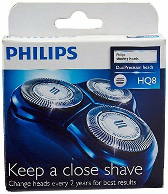 Philips HQ8 Replacement Shaver Heads Razor Blades Cutters (2yrs) (Plain Pack)
