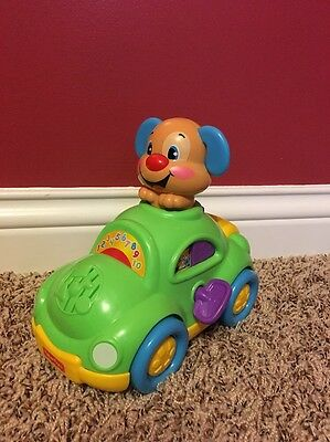 Fisher Price Puppy Laugh And Learn Musical Car