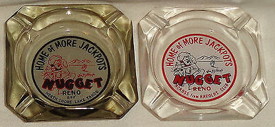 Vintage Jim Kelley's Nugget Casino Ashtrays, Diff. Variant Wording, Reno, NICE!