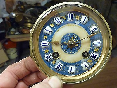 Small Antique French Striking Movement & Ornate Cartouched Dial(Bl)