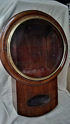 "Stunning antique 12"" Drop Dial Clock case only complete with glass and bezel"