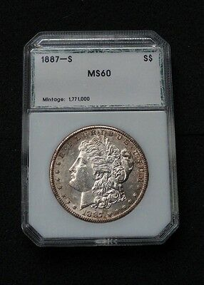1887-S $1 Morgan Silver Dollar ~ Slabbed BU MS coin PCI - low mintage