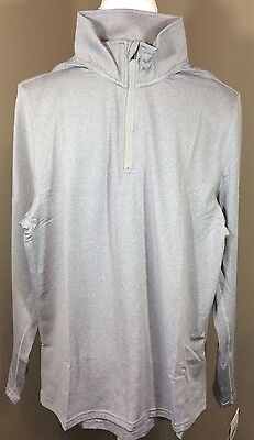NWT Wes and Willy Big Boys' Performance Pullover Zip Top Shirt Gray Size Large L