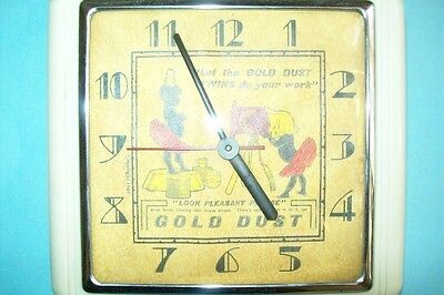 1940s (?) Gold Dust Twins Electric Wall Clock (Not Working)