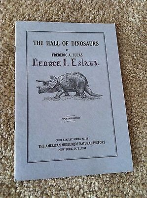 Vintage HALL OF DINOSAURS Booklet AMERICAN MUSEUM OF NATURAL HISTORY 1933 EX