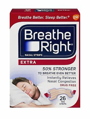 Breathe Right Extra Strength Nasal Strips - 26 Count (Pack Of 6)