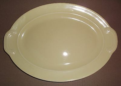 """Luray Pastels Yellow 11 3/4"""" lugged handle platter mint Taylor Smith & Taylor"""