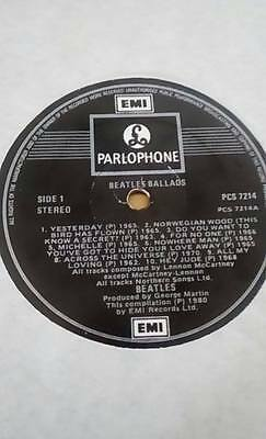 Beatles Ballads Rare Irish Pressing 12'' LP