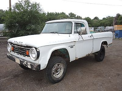 1967 Dodge Power Wagon  1967 Dodge POWER WAGON civilian W100 SHORT BOX 4x4 Sweptline TRUCK MoPar DANA 60