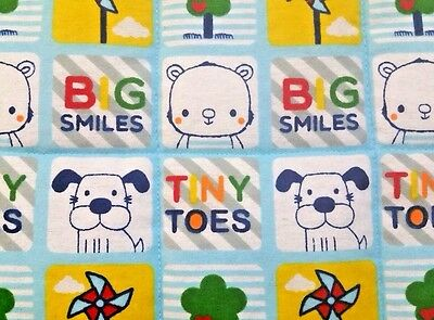 """NEW, HANDMADE,""""TINY TOES"""", 34X43in, BOYS, BABY/TODDLER FLANNEL QUILTED BLANKET"""