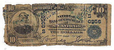 FR624 Charter #6956 1902 $10 Plain Back National Currency Note