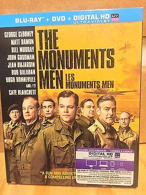 The Monuments Men, Blu-ray, DVD, 2-Disc Set, NEW, SEALED