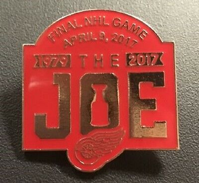 """Detroit Red Wings Pin """"the Joe"""" April 9Th Final Nhl Game  Stanley Cup Champions"""