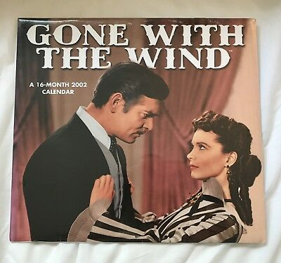 Gone With The Wind 2002 Calendar 16 Monrh Large Photos Factory Sealed