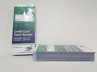 100 SHORT 3 PART Credit Card Imprinter Sale Slips Credit Charge Receipt Drafts