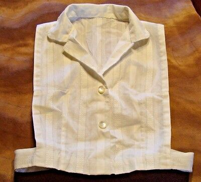 Vintage Women's White Button Front Dickie Faux Blouse Front Rockabilly Swing