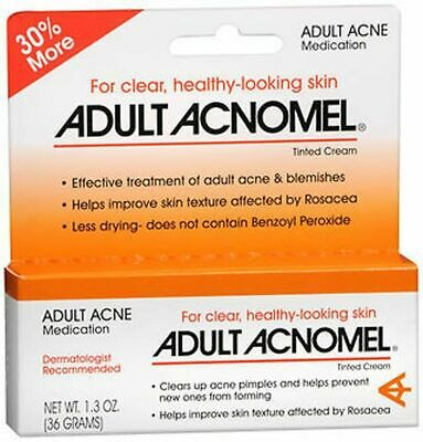 Adult Acnomel Acne Medication Tinted Cream For Pimple Prevention 1.3 Oz (3 Pack)