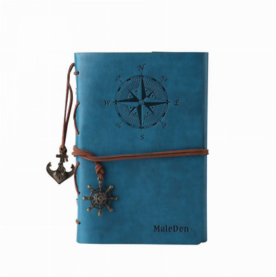 Leather Writing Journal Notebook Classic Spiral Bound Notebook Refillable Diary