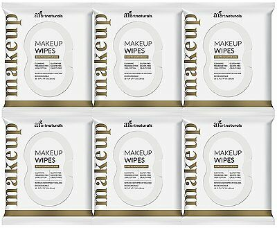 6 x 30 Piece Set ArtNaturals Makeup Remover Cleansing Wipes - Towelettes SALE !!
