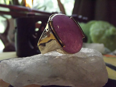 Witch Owned Purple Oversized Rings Size 9 1/2 Healing Protection Spirit Help
