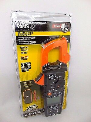 Klein Tools 600A AC Auto-Ranging Digital Clamp Meter CL600 New!