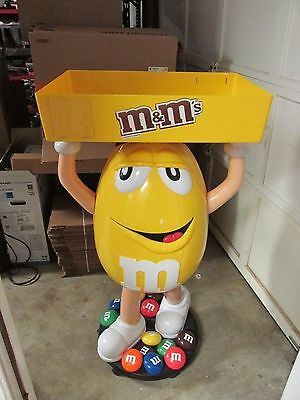 """46"""" Yellow Peanut M&M's Candy Character Advertising Store Display On Wheels"""