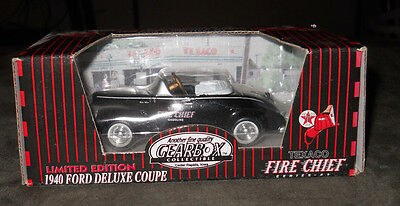 Gearbox Pedal Car Co~Texaco 1940 Ford Deluxe Coupe ~Fire Chief~#09288~Series #1
