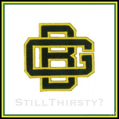 """Green Bay Packers Vintage Embroidered Iron On Patch (Old Stock) 3.0"""" x 2.5"""""""