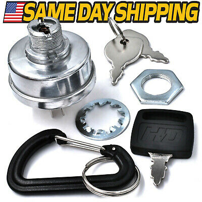John Deere AM119111 Ignition Switch  - STX38 - STX46 - 3 Key - FREE Carabiner !