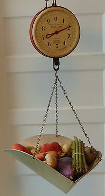 vintage chatillon 720 fruit and vegetable scale red side