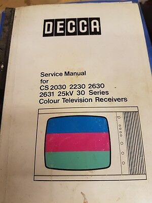 service manual for decca various models