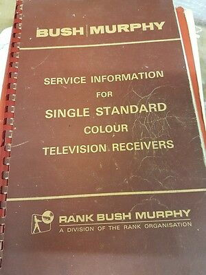 service information for single standard colour tv receivers bush