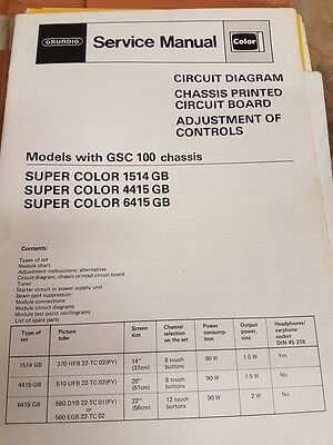 service  manual grundig gsc100 chassis