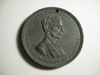 1860 Lincoln Campaign Medal Zabriskie Collection AL-1860-18, Large Size 38mm