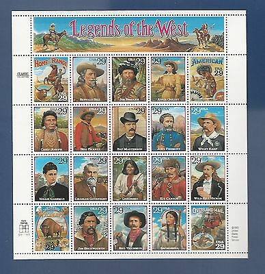 SCOTT #2869...LEGENDS OF THE WEST...PANE OF 20 (29c) STAMPS...MNH