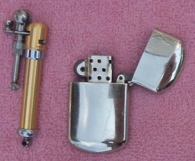 Lot Of Two Nice Lighters A Camel Silver Flip Top And A Trench Type Butane-NR.
