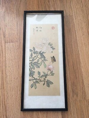 19TH Century CHINESE PAINTING On Silk Signed By The Artist Red Seal