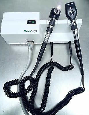 Welch Allyn 767 Wall Transformer w/ 11710 25020A Heads - Otoscope Opthalmoscope