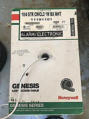 HoneyWell Genesis Low voltage Cable 18/4 Str Cm/Cl2 1M Alarm, Electronic Audio