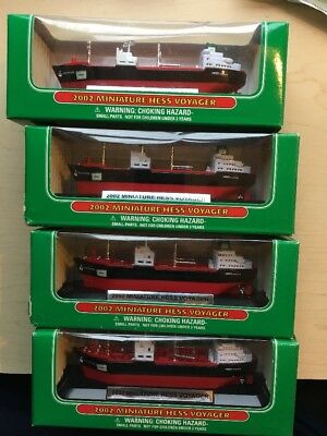 Lot of 4 2002 Miniature Hess Voyager Ship Brand New In Box