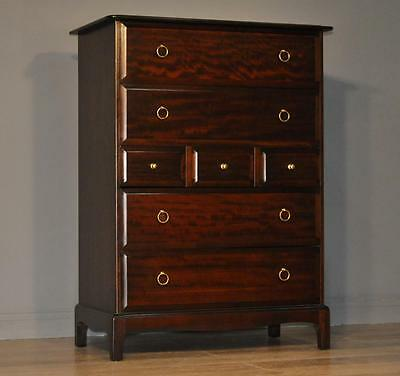 Attractive Tall Large Vintage Stag Minstrel Chest Of 7 Seven Drawers
