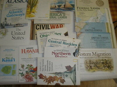Lot 39 National Geographic mapS AMEERICA's FEDERAL LANDS-CIVIL WAR- MUCH more.