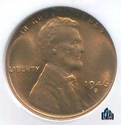 MS-66RED 1946-D NGC ULTRA-GEM LINCOLN WHEAT CENT!  COMBINE SHIPPING! No ReSeRvE