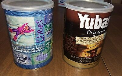 2 Coffee Cans by Maxwell House & Yuban