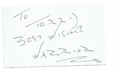 Michael Ahearne - Warrior ITV Gladiators  Hand Signed card 4 x 3
