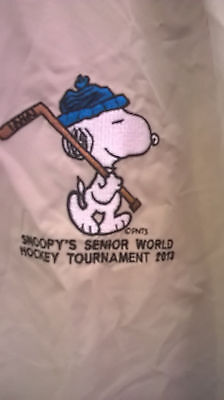 Vintage Snoopy Senior World Hockey  Tournament 2013  Mens Jacket SIZE 2 XL NWT