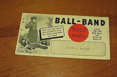 Vintage Ball Band Shoes Ink Blot Cardboard Paper Ad