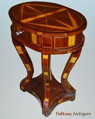 Inlaid Art Deco style Rosewood Brazilian side table