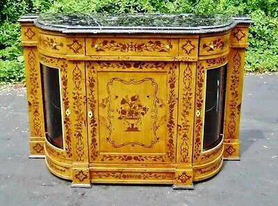 Majestic Maple Victorian style marquetry Credenza